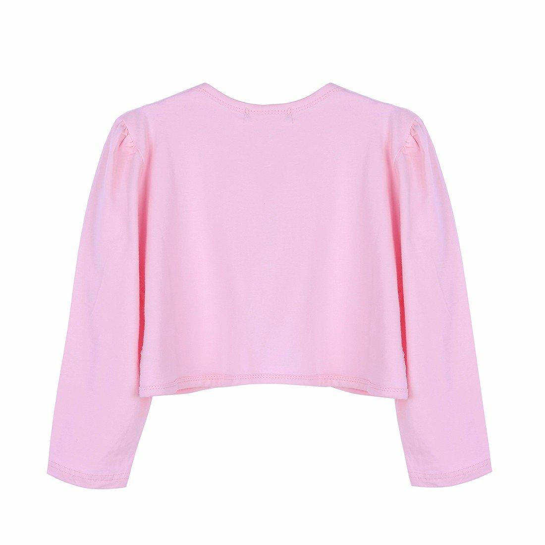 a8330e2b1dd10 FEESHOW Kids Girls Long Sleeves Beaded Lace Bolero Jacket Shrug Short  Cardigan Dress Cover Up larger image