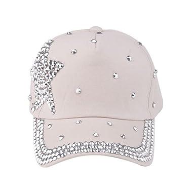 9c3714623c6d3 SZTARA Hat Glitter Sparkly Bling Boys Girls Children Baeball Caps  Adjustable  Amazon.co.uk  Clothing