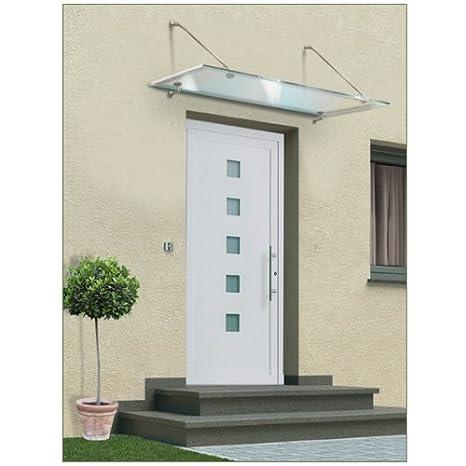 Sehr Vordach Haustür Glas Edelstahl 150 x 90 cm: Amazon.de: Baumarkt XR23