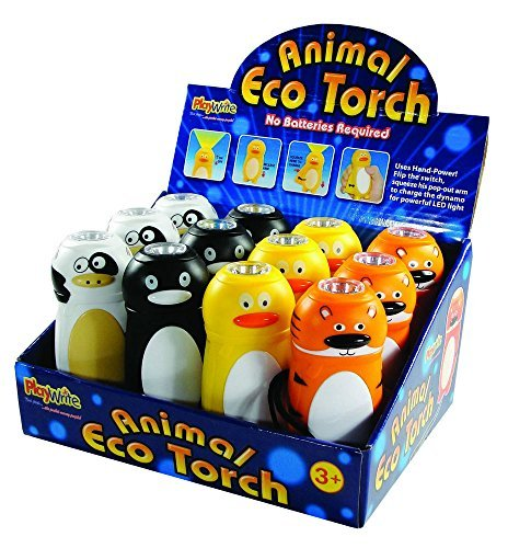 Animal Eco Torch (One supplied), no batteries required - just pump the hand grip! by Party Bags 2 Go