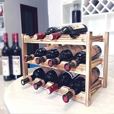 Botelleros Madera Para 8-16 Botellas De Vino Hogar Sala Cocina Bares Restaurantes Ecológica Decoracion Hogar Botelleros Vino Organizador