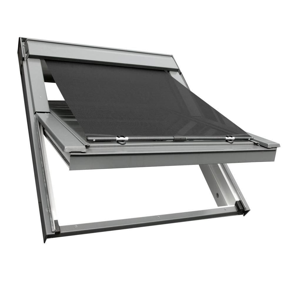Sonnenschutz-HH Hitzeschutz Markise Hitzeschutzmarkise für VELUX Dachfenster Rollo GGL GPL GHL GGU GPU GHU M04 MK04 M06 MK06 M08 MK08 - schwarz   anthrazit