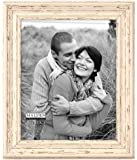 Malden Distressed Wood Picture Frame, 8 by 10-Inch, Off-White