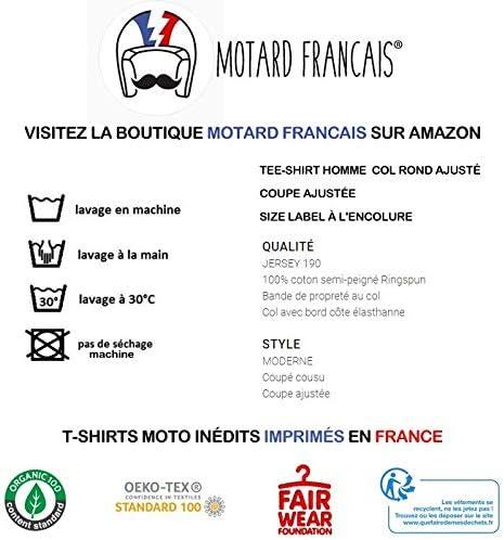 T-Shirt Moto Premium Noir Les Vrais mecs Font de la Harley Davidson id/ée Cadeau Motard