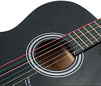 NEW1 – Set de 6 Rainbow Colorful Color cuerdas para guitarra ...