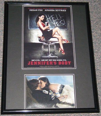 Megan Fox Jennifer's Body SEXY Signed Framed 18x24 Poster Photo Display