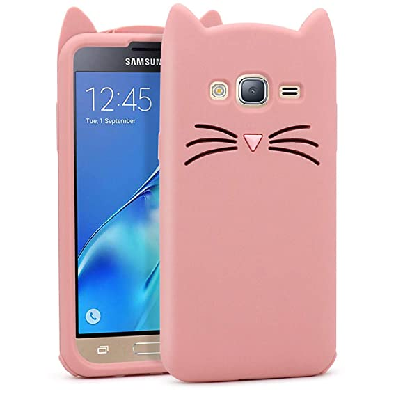 online store 711b6 77a83 for Samsung Galaxy J3 2016 Case, Galaxy J3 Case, Amp Prime Case, J3V Case,  Express Prime Case, Cute 3D Cartoon Cat Whiskers Kitty Meow Soft Silicone  ...