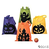 Toys : Halloween Tote Bags - 12 Per Order - Large 16 Inch -Ionic Trick or Treat Tote Bags