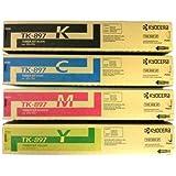 Kyocera Mita Part# TK-897C, TK-897K, TK-897M, TK-897Y Toner Cartridge Set (OEM)