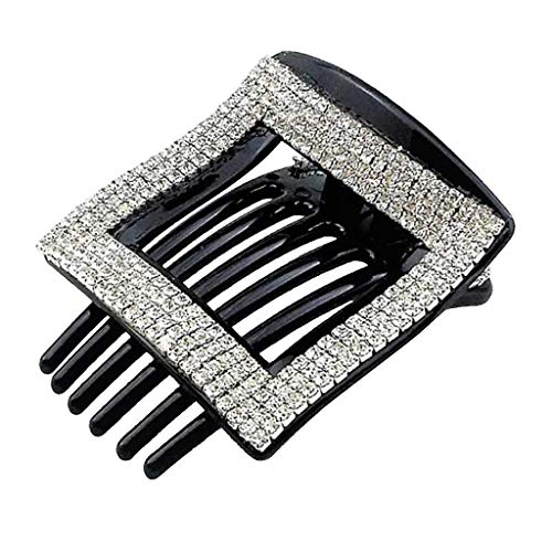 Fityle Beauty Square Hair Clip Rhinestone Hair Claw Pin For Women Lady Makeup Tools