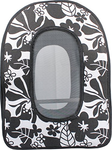 A&E CAGE COMPANY 001376 Happy beaks Soft Sided Travel Bird Carrier Black, 14.5X10.5X7 in by A&E CAGE COMPANY