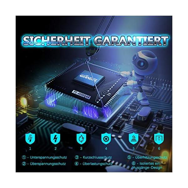51gBdl3jPQL 3000W Wechselrichter 12V auf 230V Reiner Sinus Spannungswandler Umwandler-Inverter Konverter mit Fernbedienung LED…
