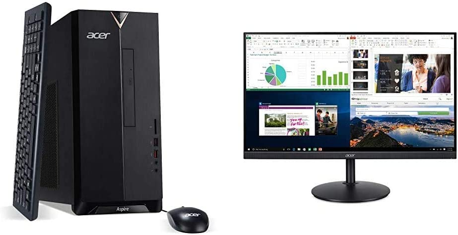Acer Aspire TC-885-UA92 Desktop, 9th Gen Intel Core i5-9400 with CB242Y bir 23.8