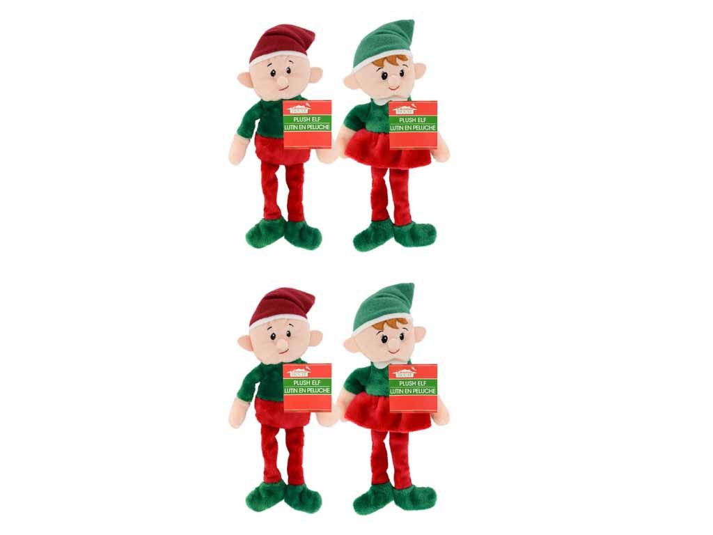 Amazon.com: 4 Pack: Christmas House Plush Elves, 9 Inch: Home & Kitchen
