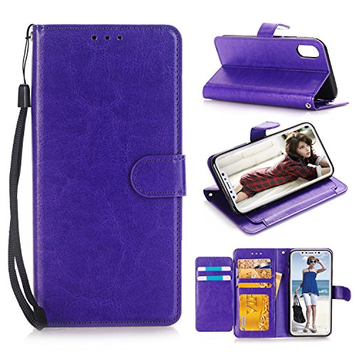 Rose Pedestal Metal Wild (iPhone X Case, iPhone 10 Wallet Case, MCUK [Stand Feature] Luxury PU Leather Wallet Flip Protective Case Cover with Card Slots for Apple iPhone 10 / iPhone X 5.8