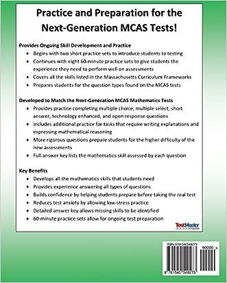 MASSACHUSETTS TEST PREP MCAS Practice Book Mathematics Grade