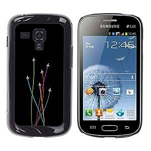 TaiTech / Prima Delgada SLIM Casa Carcasa Funda Case Bandera Cover Armor Shell PC / Aliminium - Avión Colores - Samsung Galaxy S Duos S7562