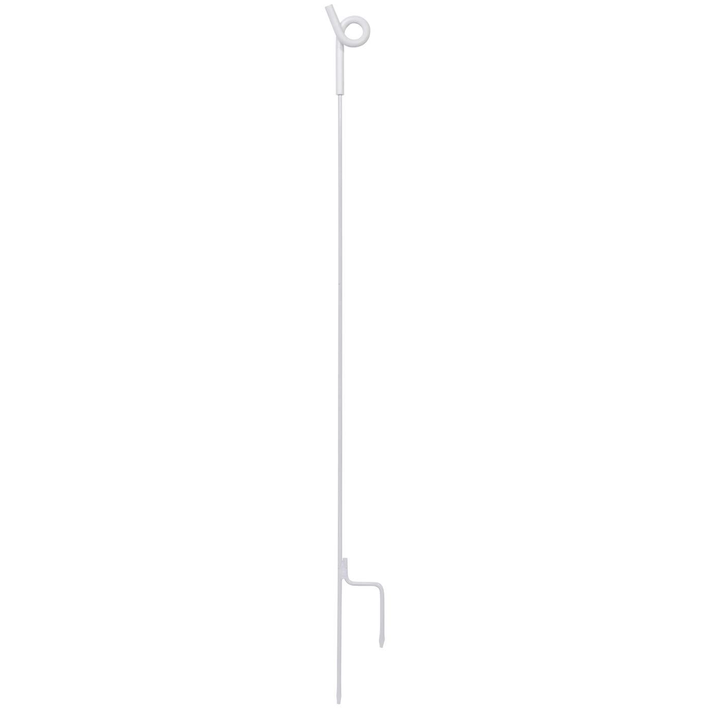 VOSS.farming 10x Ösen-Metallpfahl 105 cm, weiß (Rinderzaun) weiß (Rinderzaun)