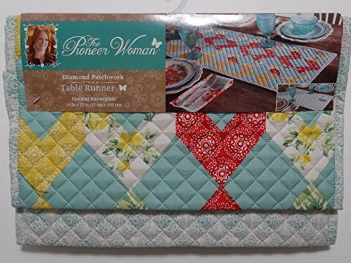 Diamond Patchwork - The Pioneer Woman Diamond Patchwork Table Runner - Quilted Reversible