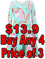 Liliane Unicorn Long Sleeve Dresses, Leggings, Hoodies Pink