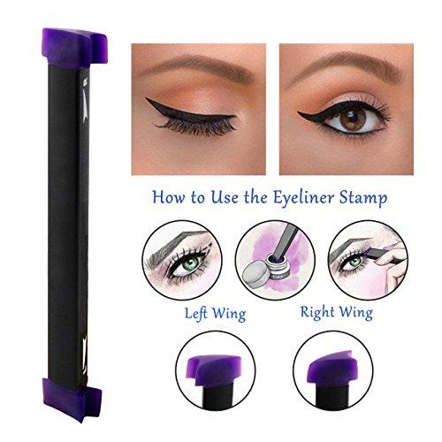 Eyeliner Stamp Set, Cat Eye Waterproof Natural Eyeliner, Easy Eye Makeup Wing Size M (1 Pack)