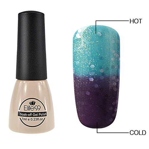 Elite99 Thermal Temperature Color Changing Gel Polish Soak Off UV LED Nail Polish Manicure Nail Art 7ml - 5727