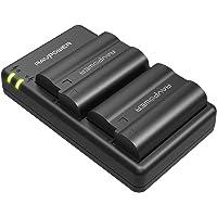 EN-EL15 EN EL15A RAVPower Battery Charger Set for Nikon d750, d7500, d850, d800, d7200, d500, d610, d600 and More (2-Pack, Micro USB Input Charger, Versatile Charging Option, 2100mAh)
