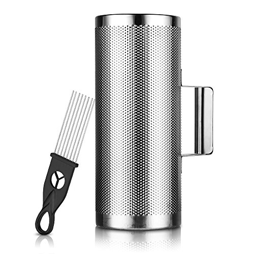 Vangoa - Metal Guiro Shaker Stainless Steel with Scraper Instrument, 12