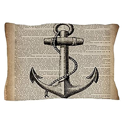"CafePress - Nautical Vintage Anchor - Standard Size Pillow Case, 20""x30"" Pillow Cover, Unique Pillow Slip"