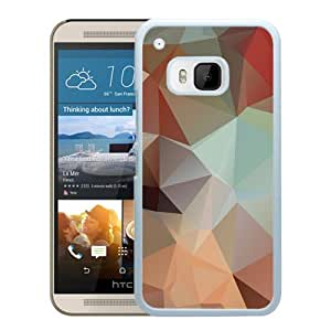 New Pupular And Unique Designed Case For HTC ONE M9 With Polygon Surface White Phone Case