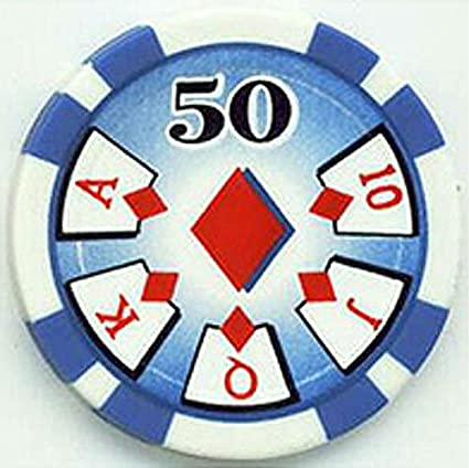 Amazon Com Royal Flush 50 Poker Chips Set Of 25 Sports Outdoors