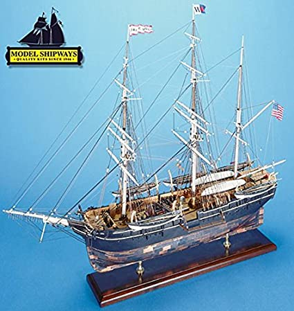 HandCrafted Wood Fully Assembled Charles W Morgan Whale Ship Model