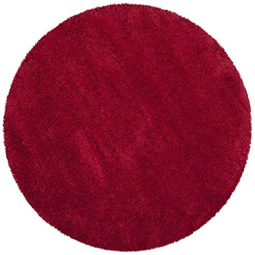 Safavieh Milan Shag Collection Sg180 4040 Red Round Area