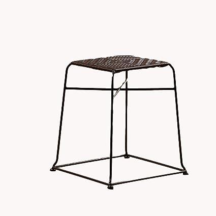 Excellent Amazon Com Aidelai Bar Stool Chair Rattan Stool Side Stool Ibusinesslaw Wood Chair Design Ideas Ibusinesslaworg