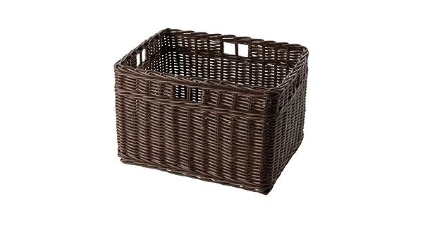 Ikea gabbig cesta en color marrón oscuro; de ratán
