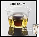 500 count CLEAR Party Bomber Shot Cups - EMI Yoshi w/ Signature Party Picks