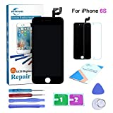 #8: Qi-Eu LCD Display for iPhone 6S(Black) 4.7 inch Touch Screen Digitizer Replacement with 3D Touch Assembly, Repair Tools Kit and Instructions are Included