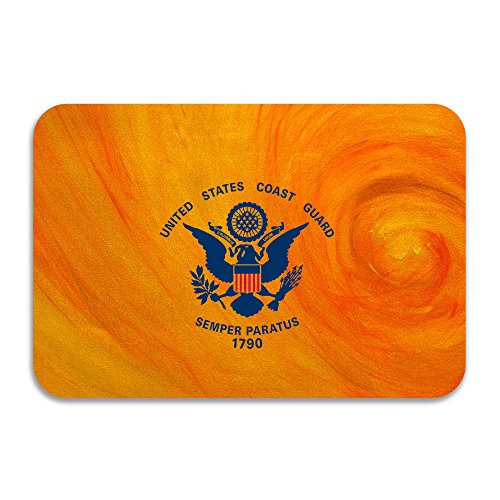 MFQO United States Coast Guard Flag Non-slip Doormat