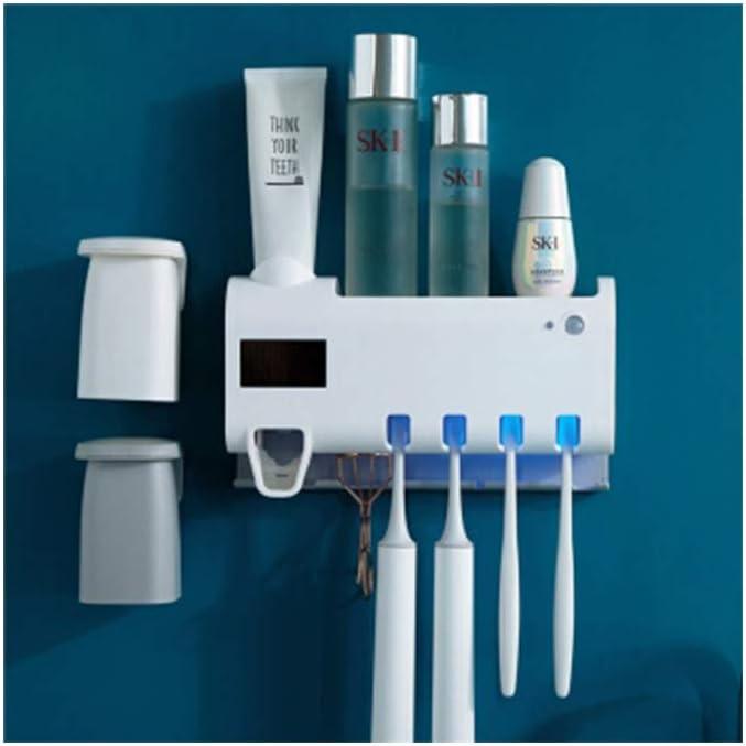 sterilizzatore per spazzolini da denti Portaspazzolino UV cremagliera dentifricio sterilizzazione elettrica int Dispositivo di archiviazione per la disinfezione intelligente dello spazzolino da denti