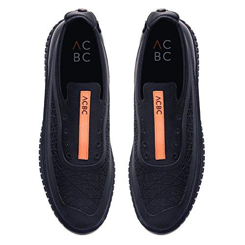 ACBC Scarpa Sneakers Hydra Suola e Scarpa Nera con Zip
