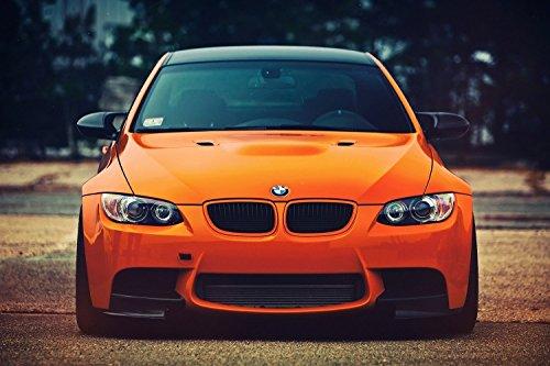 BMW M3 3 Series Orange Car Poster 24x36 (Bmw Pictures)