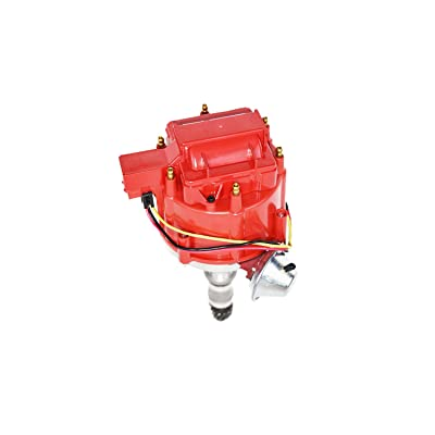 A-Team Performance HEI Distributor 65K Volt Coil Compatible with Buick Odd Fire 231 3.8L V6 225 Jeep 3.7L Dauntless One Wire Installation Red Cap: Automotive