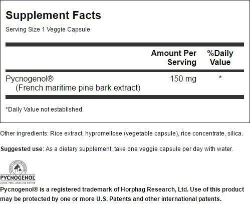 Swanson Pycnogenol - Super Strength 150 mg 30 Veg Caps 4 Pack by Swanson (Image #2)