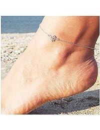Classic Lotus Shape Anklets for Women Elegant Flower Anklets Plant Chain Link Anklets