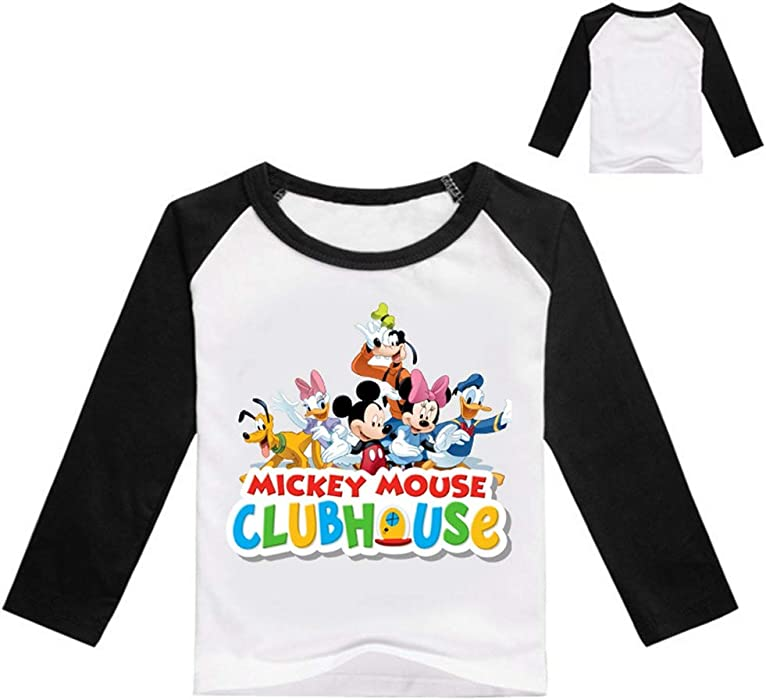 JUNMAONO Mickey Minnie Mouse Camisetas Niño Tops Polos Camisas Chalecos Deportivas Verano Chándales Manga Larga Sudadera Trajes Capa Casual Ropa Remata ...