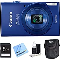 PowerShot ELPH 170 IS 20MP 12x Opt Zoom Digital Camera - Blue 8 GB Bundle - Includes Camera, 8GB Secure Digital SD Memory Card, Digital Camera Deluxe Carrying Case, 3pc. Lens Cleaning Kit, and 1 Piece Micro Fiber Cloth Advantages Review Image