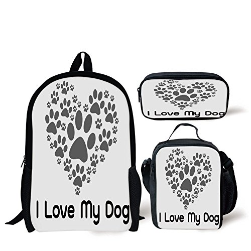 School Lunch Pen Bags,Dog Lover Decor,I Love Dog Typography Typescript Text Heart Shaped Monochromic Artwork Veterinary,Personalized (Personalized Heart Shaped Pen)