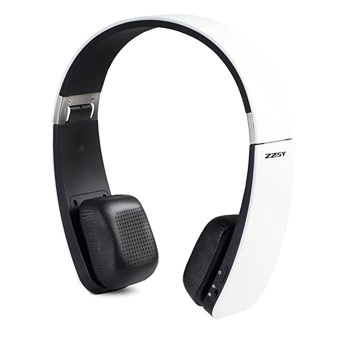 ZZSY Touch-Activated Wireless Bluetooth V4.1 Headphone Inline Microphone, Folding Lightweight Carrying