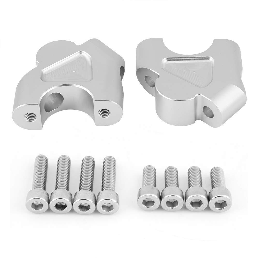 adattatori altezza pinza riser manubrio moto alluminio alluminio CNC Adatto per R1200GS LC ADV 14-18 nero o argento Riser manubrio moto Qiilu argento