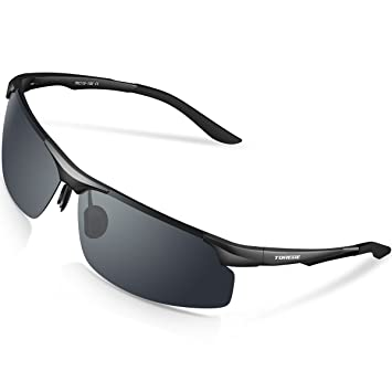 Gafas de sol deportivas M291 de Torege, polarizadas, con montura TR90 irrompible de aluminio magnesio, para hacer ciclismo, correr, pescar, jugar al ...